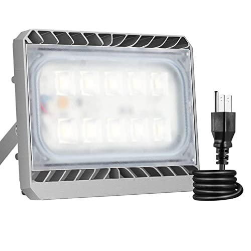 50W LED Flood Light, STASUN LED Security Lights Outdoor, 4500lm, 3000K Warm White