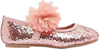 Shoexpress Glitter Detail Mary Jane Shoes with Hook and Loop Closure