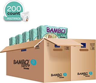 Bambo Nature Eco Friendly Baby Training Pants Classic for Sensitive Skin, Size 5 (26-44 lbs), 200 Count (2 Cases of 100), Off-White