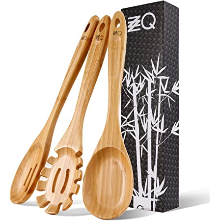 3pc Wooden Bamboo Set Spoon Ladle Slotted Turner Cooking Baking  Kitchen Utensil