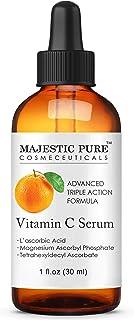 MAJESTIC PURE Vitamin C Serum for Face - Topical Antioxidant Facial Serum with L - ascorbic Acid - Promotes Natural Skin C...