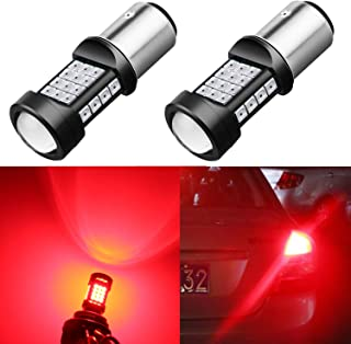 Alla Lighting 1000Lm 3030 36-SMD Extremely Super Bright Pure Red BAY15D 7528 2357NA 1157 LED Bulbs High Power 3030 Chipsets LED Lights Lamps Replacement