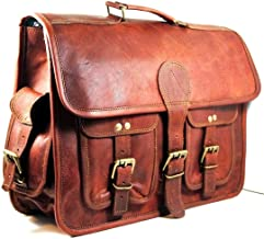 maletín de Cuero Bolsa de Mensajero portátil Bandolera para Hombres y Mujeres (15