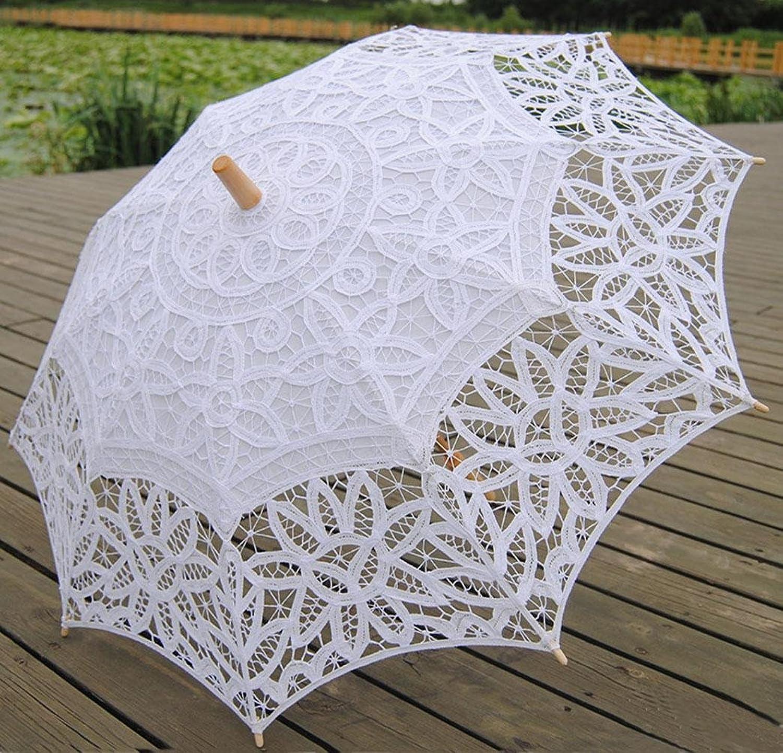 Wedding Cotton Umbrella Post Handle 26.8 (Approx.78cm)(Approx.68cm) Wood 30.7