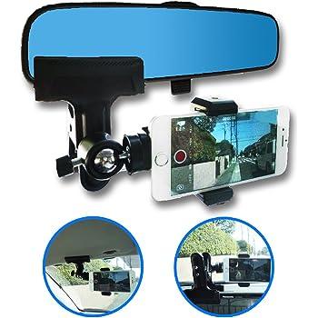 Nanmara 車載用 iPhone スマホ クリップ ホルダー かんたん設置でスマホが ドライブレコーダー 代わりになる 取付場所はルームミラー・サンバイザー・ナビモニターなど自由自在 車載 スタンド ドラレコ