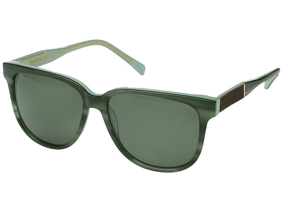 Shwood Mckenzie Acetate Wood Polarized (Jade/Ebony/G15 Polarized) Polarized Sport Sunglasses