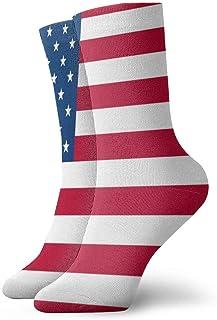 Calcetines para hombre y mujer Calcetines con bandera estadounidense Calcetín atlético Personalizado Cojín anti olor Bota corta Media