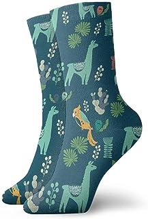 AEMAPE, Calcetines deportivos con amortiguación de alpaca verde, esencial para el trabajo deportivo para hombres y mujeres