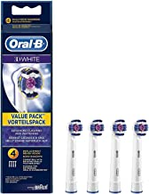 Oral-B 3D White Electric Toothbrush Replacement Heads Powered by Braun - Pack of 4