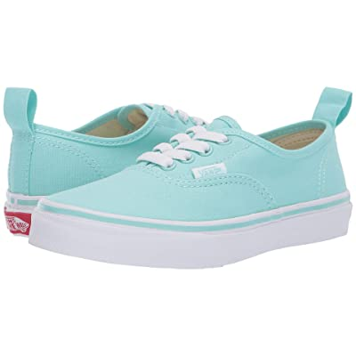 Vans Kids Authentic Elastic Lace (Little Kid/Big Kid) (Blue Tint/True White) Girls Shoes