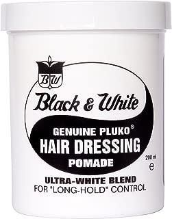 Black & White Genuine Pluko Hair Dressing Pomade Ultra White Blend 200Ml