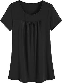 Women's Plus Size Long Tunic Pleated Shirt for Leggings
