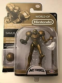 World of Nintendo, Series 2-4, Metroid Samus (Trophy Series) Action Figure, 4 Inches