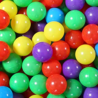 Ball Pit Balls 50 - Soft Plastic Balls for Babies Toddlers Kids Children for 1 2 3 4 5 Years Old ,5 Colors, 50pcs