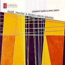 Faure, Poulenc and Franck Violin Sonatas