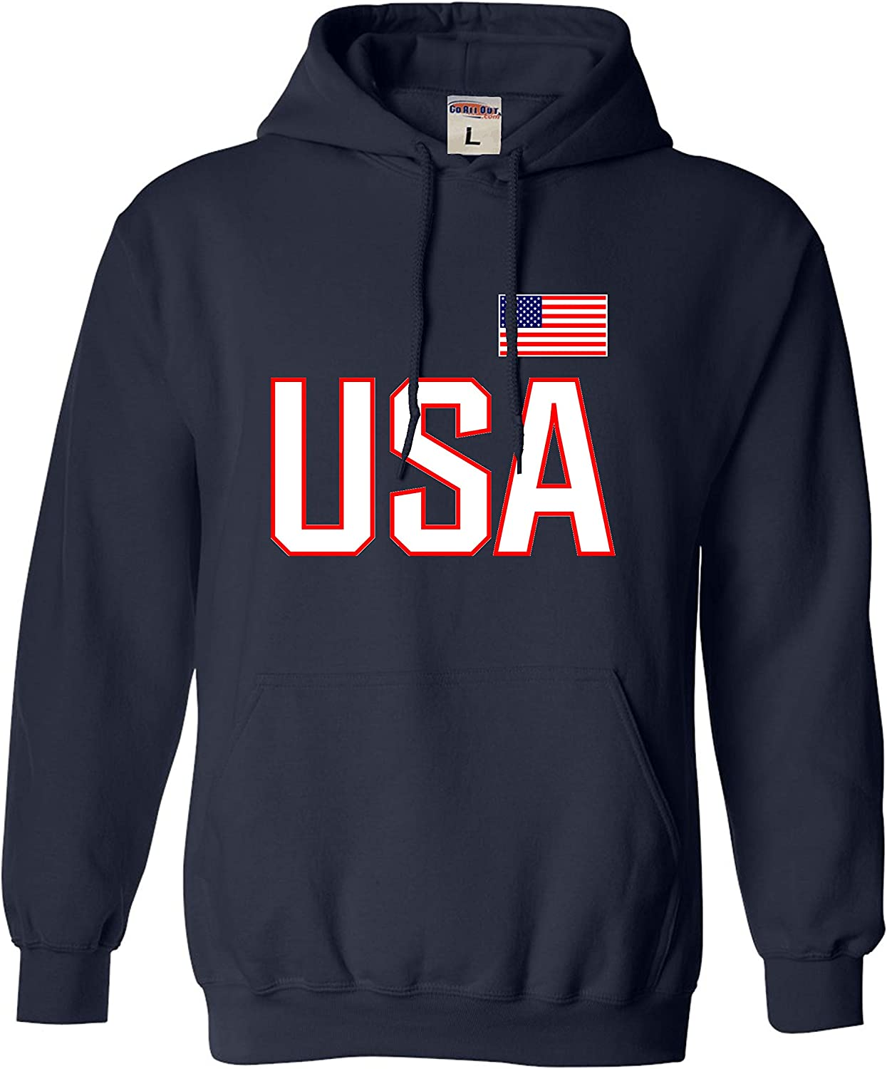 Go All Out Adult overseas USA Hoodie Pride National Super special price Sweatshirt