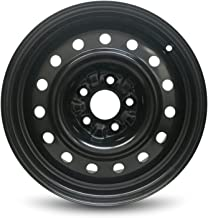 Road Ready Car Wheel For 2002-2006 Nissan Altima 16 Inch 5 Lug Black Steel Rim Fits R16 Tire - Exact OEM Replacement - Full-Size Spare