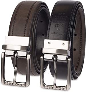 Men's Reversible Casual Dress Belt With Comfort Stretch
