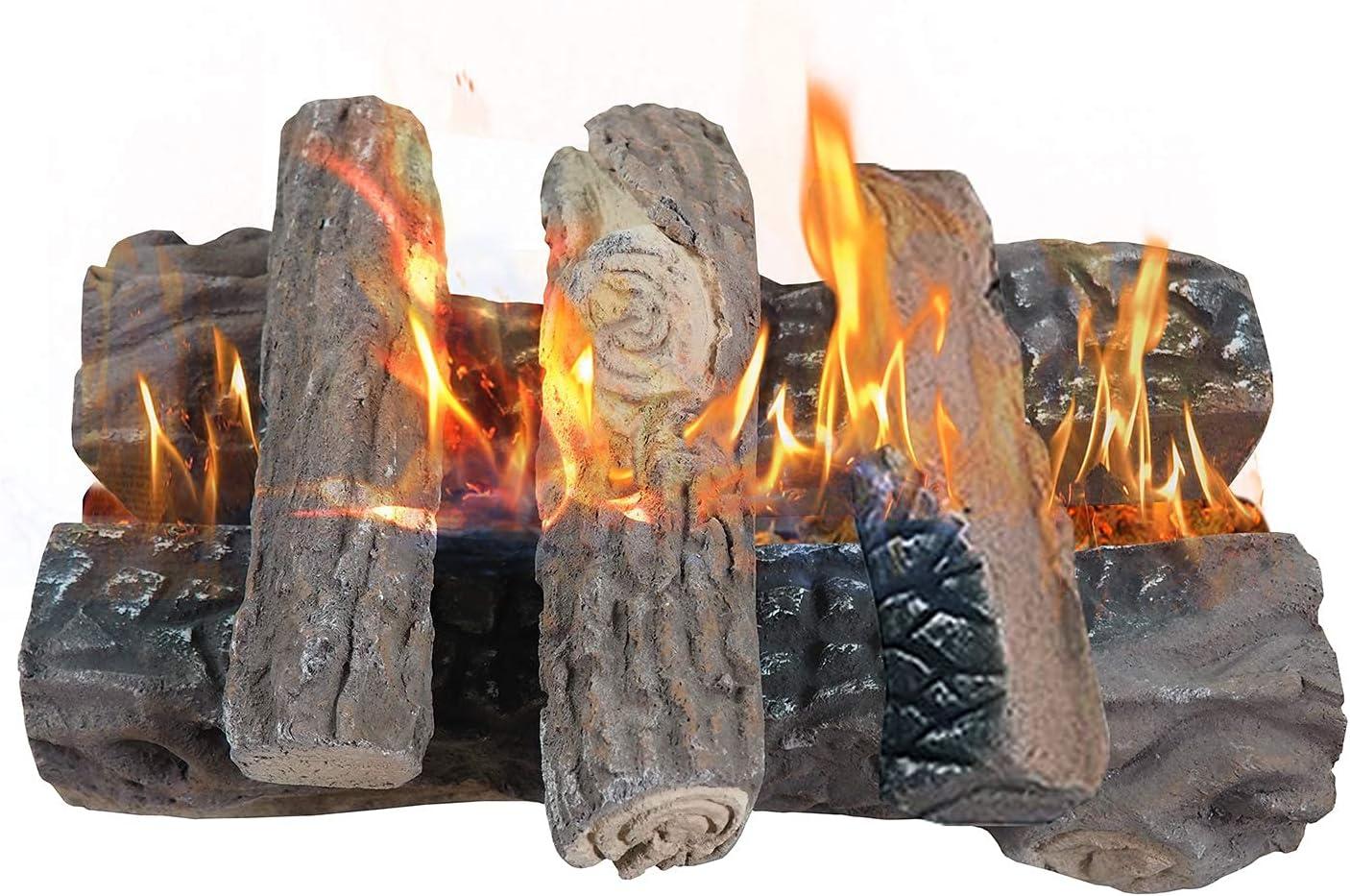 Skypatio Gas Fireplace Ranking TOP19 Logs 5 Ceramic Pieces Regular discount Fiber Wood U