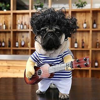 otutun Chien Vêtements, Guitariste Déguisement Chiot Fête de Cosplay Costume Chihuahua Costumes Drôles de Chien Chanteur p...