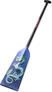Hornet Watersports Dragon Boat Paddle Fixed Length Carbon Fiber Blue Dragon Lightweight IDBF Approved