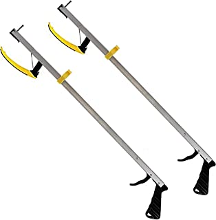RMS 2-Pack 26 Inches Long Grabber Reacher - Magnetic Tip Helps Pick Up Small Objects - Fitted with Post to Assist with Dressing - Mobility Aid Reaching Assist Tool, Arm Extension (26-inch)