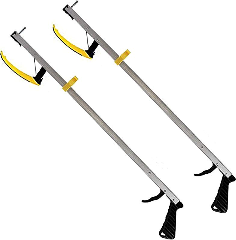 RMS 2 Pack 32 Inches Long Grabber Reacher Magnetic Tip Helps Pick Up Small Objects Fitted With Post To Assist With Dressing Mobility Aid Reaching Assist Tool Arm Extension 32 Inch