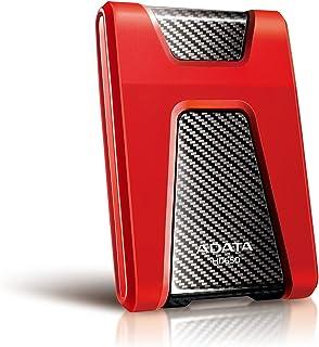 ADATA 1TB DashDrive HD650 Red, Black USB3.1 Portable Hard Drive Model AHD650-1TU31-CRD