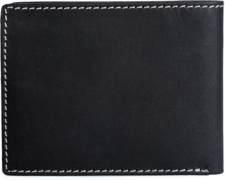 Cartera Tarjetero Caja para cl/ásica Retro Vintage Lois protecci/ón RFID Tarjetas Billetes dni Billetero para Hombre Horizontal de Cuero Piel Genuina 201708