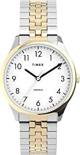 Women's Modern Easy Reader 32mm Watch – Two-Tone Case White Dial with Expansion Band