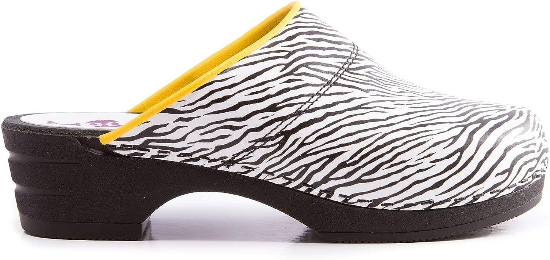 Moofs Clogs für Damen Zebra