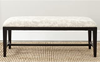 Safavieh Mercer Collection Zambia Bench, Taupe and Beige