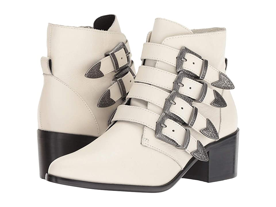 Steve Madden Billey Bootie (White Leather) Women