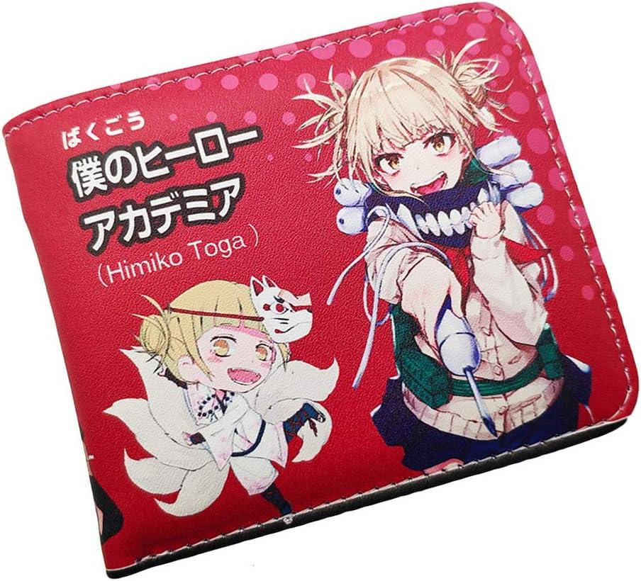 Anime My Hero Academia Himiko Toga Cosplay Short Wallet Bifold Leather Moneybag Accessory Halloween