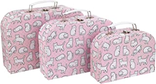 MAISONICA Set Cutie the Cat Spotted Pink Mini Suitcases Storage Box