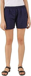 PITARA Women's Shifley Cotton Solid Boxer/Shorts