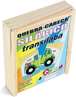 Quebra-Cabeça Silábico Transílaba Carlu Brinquedos