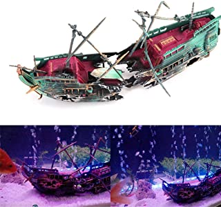shipwreck aquarium ornament