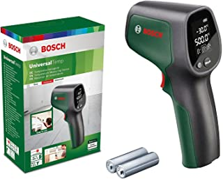 Bosch Infrared Thermometer UniversalTemp (Temperature Range: -30°C to +500°C, 2 x AA Batteries, In Box)
