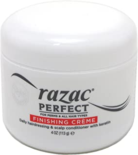 Razac Perfect for Perms & All Hair Types Finishing Creme, Daily Hairdressing & Scalp Conditioner With Keratin, 4 oz (Pack of 2)