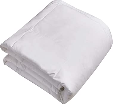 BlueRidge Home Fashion White 240 Thread Count Goose Feather Comforter-500 Fill Power, Twin