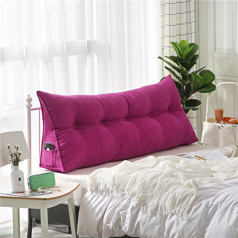 LIUSHIJITUAN Stereo Reading Cushion,100% Cotton Sofa Back Cushion Removable Long Pillow-F 100x50x20cm(39x20x8)