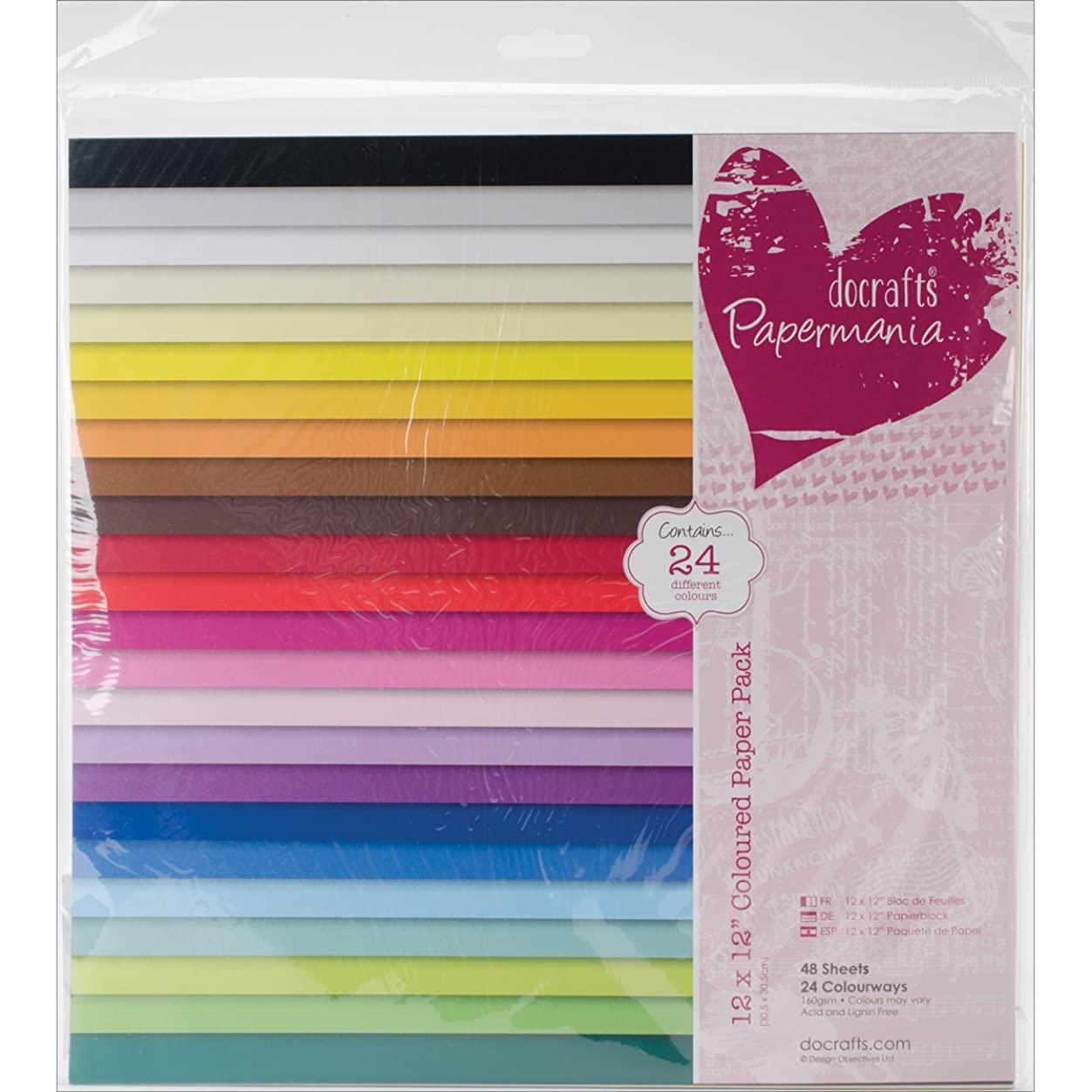 DOCrafts Papermania Paper Pack, 12 by 12-Inch, Colored, 48-Pack znyo283164569