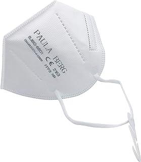 Paula Berg 20x FFP3 - Mascarilla antipolvo plegable - con accesorio para el oído - filtro del 99% - sin válvula - embalada...