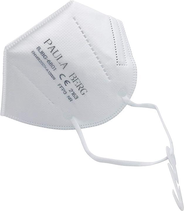 Mascherina ffp3 filtro al 99% - senza valvola - per l`uso ovunque - confezionata singolarmente - 20 pezzi B08QS9BJRW