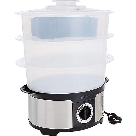 Amazon Basics Cuiseur-vapeur à 3 étages avec minuteur de 75minutes