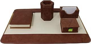 Executive English Leather Desk Set
