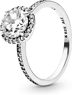 Pandora Jewelry Round Sparkle Halo Cubic Zirconia Ring in Sterling Silver