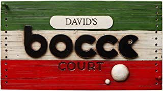Piazza Pisano Italian Personalized Bocce Sign and Score Keeper