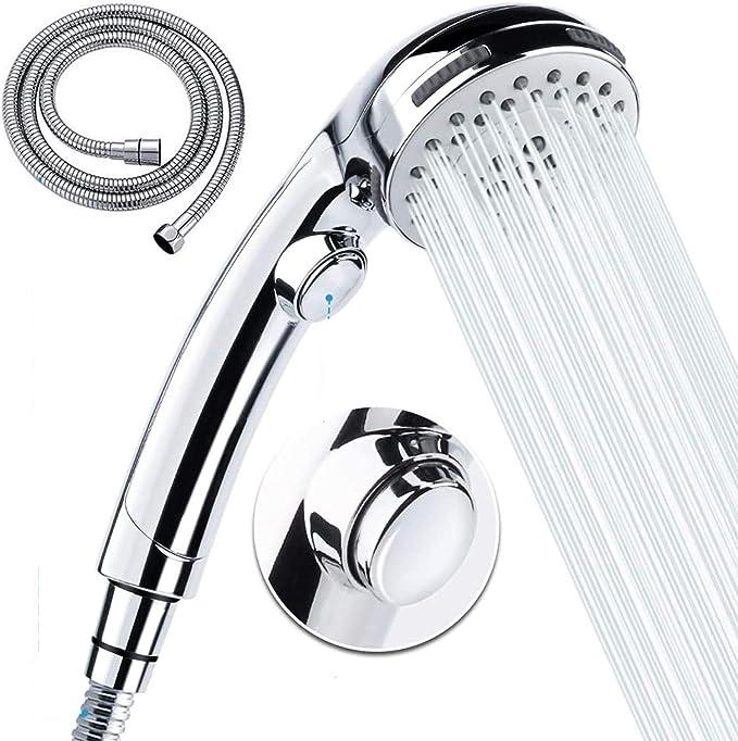 269 opinioni per Wimaha Doccetta con tubo flessibile -5 impostazioni di getto Soffione doccia